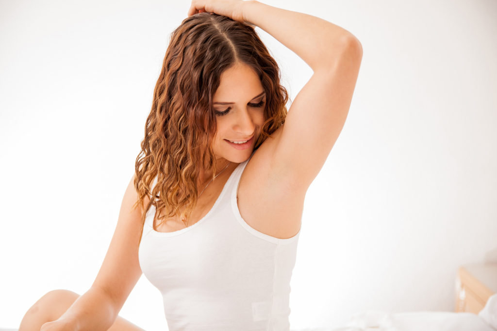 Woman happy with laser hair removal